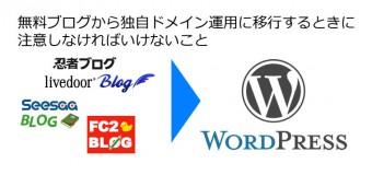 無料ブログから独自ドメイン運用に移行するときに注意しなければいけないこと